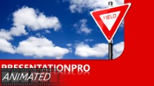 Yield In Clouds Widescreen PPT PowerPoint Animated Template Background