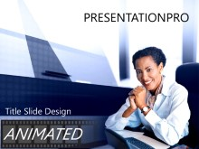 Download deskwoman Animated PowerPoint Template and other software plugins for Microsoft PowerPoint