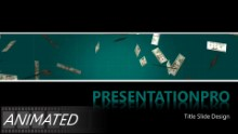 Falling Money Widescreen PPT PowerPoint Animated Template Background
