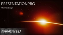 Planet Sunrise Widescreen PPT PowerPoint Animated Template Background