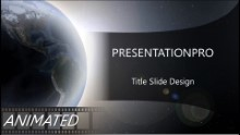 Quarter World Widescreen PPT PowerPoint Animated Template Background