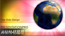 Radiant World Widescreen PPT PowerPoint Animated Template Background