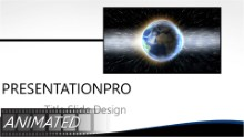World Rays Widescreen PPT PowerPoint Animated Template Background