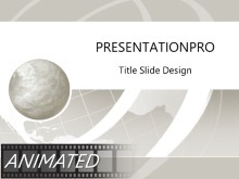 Animated Wire Wave Silver PPT PowerPoint Animated Template Background
