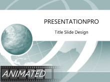 Animated Wire Wave Teal PPT PowerPoint Animated Template Background