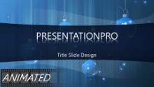 Animated Widescreen Ornaments Blue PPT PowerPoint Animated Template Background