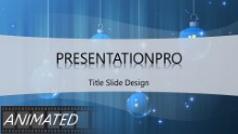 Animated Widescreen Ornaments Blue 2 PPT PowerPoint Animated Template Background