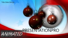 Stars and Ornaments Widescreen PPT PowerPoint Animated Template Background