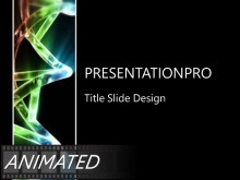 Animated Flowing DNA Helix PPT PowerPoint Animated Template Background