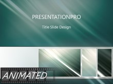 Animated Rising Swish Tribox Dark PPT PowerPoint Animated Template Background