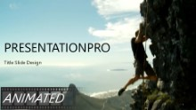 The Rock Climber Widescreen PPT PowerPoint Animated Template Background