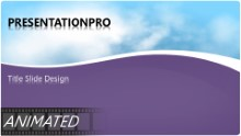 Day Shower Purple Widescreen PPT PowerPoint Animated Template Background