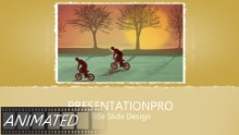 Biking 0874 Widescreen PPT PowerPoint Animated Template Background