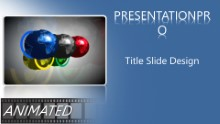 Global Olympic Rings Widescreen PPT PowerPoint Animated Template Background
