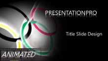 Olympic Rings Widescreen PPT PowerPoint Animated Template Background