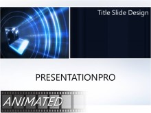 Animated Beaming Global Data PPT PowerPoint Animated Template Background