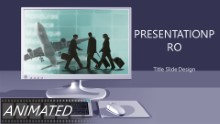 Desktop Travelers Widescreen PPT PowerPoint Animated Template Background