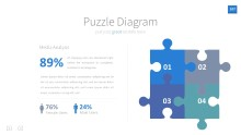 PowerPoint Infographic - InfoGraphic 107 Blue