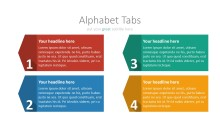 PowerPoint Infographic - 035 Flat Numbered Tabs