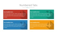 PowerPoint Infographic - 036 Flat Numbered Tabs