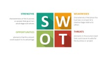 PowerPoint Infographic - 041 Flat SWOT Infographic