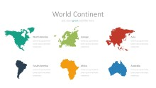 PowerPoint Infographic - 045 World Continents