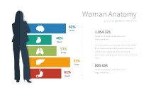 PowerPoint Infographic - 056 Woman Anatomy