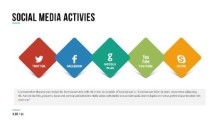 PowerPoint Infographic - 055 - 5 Social Shapes