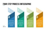 PowerPoint Infographic - 060 - 4 Steps Shapes