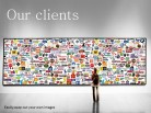 Clients Wall Scroll PPT PowerPoint presentation slide layout