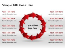 Download arrowcycle c 10red PowerPoint Slide and other software plugins for Microsoft PowerPoint