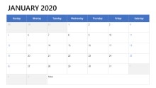 2020 Calendars Desk Table Full
