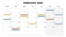 Calendars 2020 Monthly Monday February