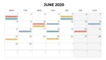 Calendars 2020 Monthly Monday June