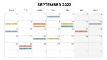 Calendars 2022 Monthly Monday September