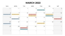 Calendars 2022 Monthly Sunday March