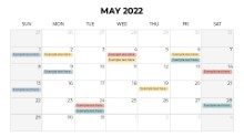 Calendars 2022 Monthly Sunday May