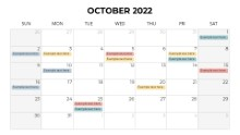 Calendars 2022 Monthly Sunday October