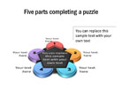 Puzzle Diagram 23 PPT PowerPoint presentation Diagram