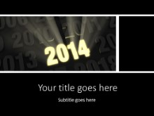 2014 Bright New Year PPT PowerPoint Template Background