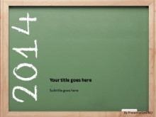 2014 Chalkboard PPT PowerPoint Template Background