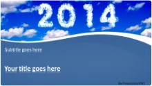 2014 Clouds Widescreen PPT PowerPoint Template Background