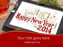 2014 Holiday Tablet PPT PowerPoint Template Background