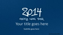 2014 Leathery Blue Widescreen PPT PowerPoint Template Background