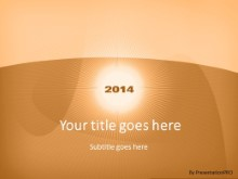 2014 Swirlatory Brown PPT PowerPoint Template Background