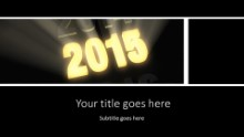 2015 Bright New Year Widescreen PPT PowerPoint Template Background