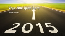 2015 Future Ahead Widescreen PPT PowerPoint Template Background