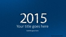 2015 Leathery Blue Widescreen PPT PowerPoint Template Background