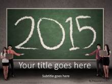 2015 Presenting New Year PPT PowerPoint Template Background