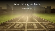 2015 Starting Position Widescreen PPT PowerPoint Template Background